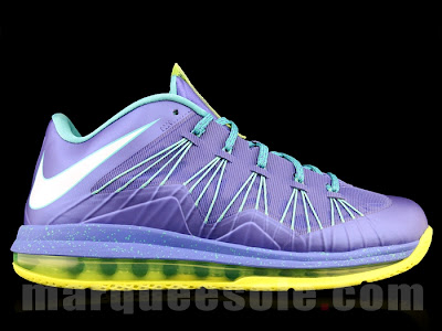 nike lebron 10 low gr blue green 2 02 A Look at LEBRON X Low Hornets. You Can Call Them Sprites Too.