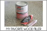 wood filler tab