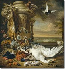 Jan_Weenix_-_Een_aap_en_een_hond_bij_dood_wild