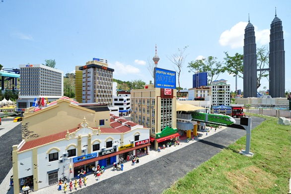 KL cityscape in Miniland at LEGOLAND