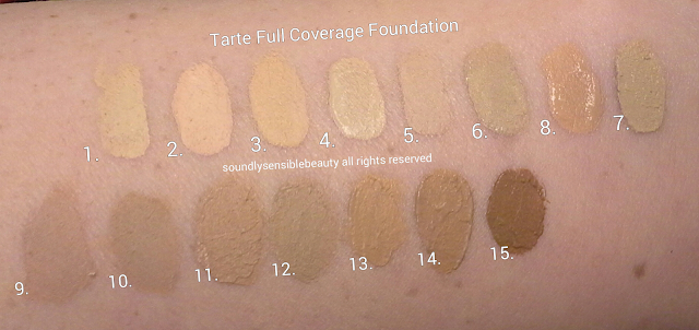 tarte full coverage foundation spf 15 review swatches. Black Bedroom Furniture Sets. Home Design Ideas
