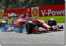 Fernando Alonso con la Ferrari