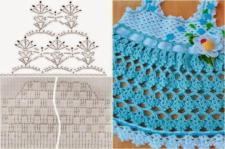 Mis creaciones a crochet y mas...: Vestidos para niña