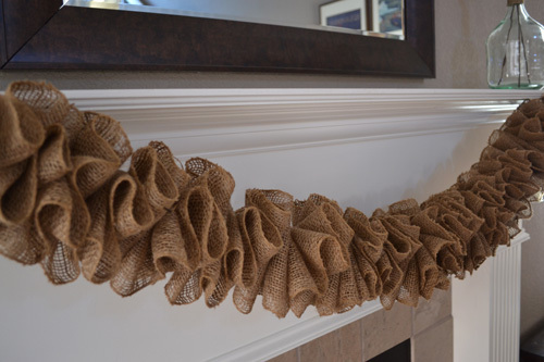 Ruffled burlap garland