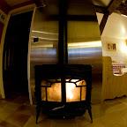 Poêle de la salle à manger 1er étage chalet L'Orée du Bois - Location - Les Carroz