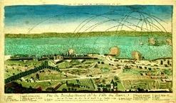 bombardement du Havre en 1759 par les Anglais