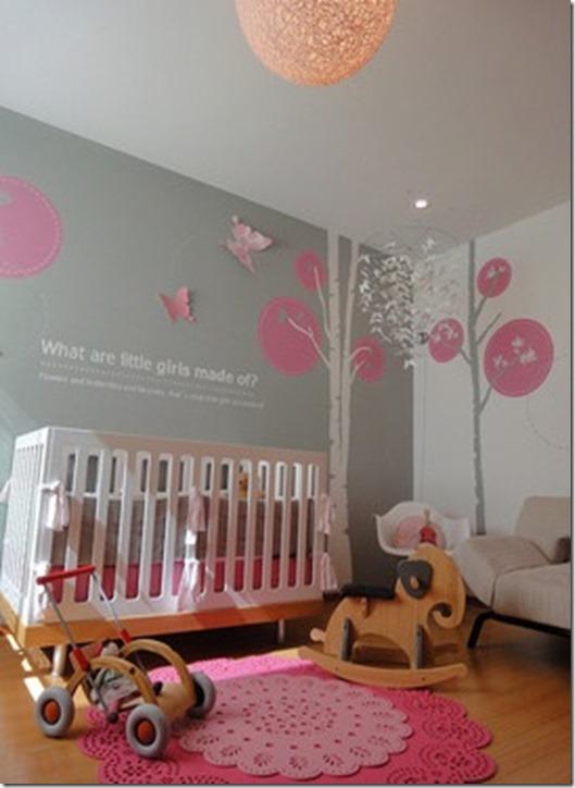 pink grey modern nursery