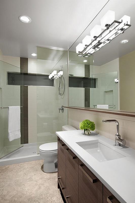 Iluminacion Cuarto Baño:La iluminación eficiente y práctica para una bañera normal y ducha