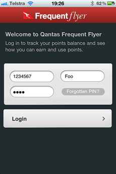 Qantas iPhone app