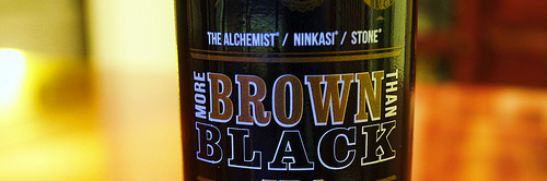image of The Alchemis / Ninkasi / Stone More Brown Than Black IPA courtesy of our Flickr page