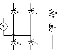 Single-Phase Full Converter with RL load