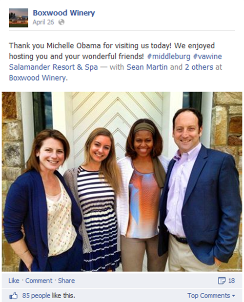 Michelle-Obama-Boxwood-Winery