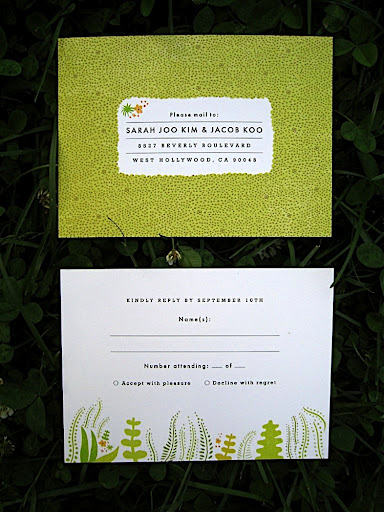 And both sides of the RSVP card.