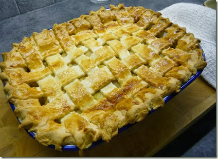 PORK AND LEEK LATTICE PIE