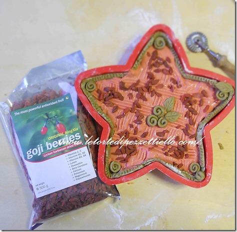 Crostata stellata con Goji