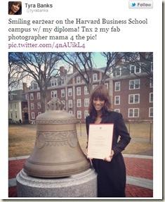 tyra banks graduation from harvard school of business pic
