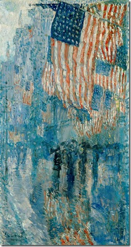the avenue in the rain via childe hassam via pretty stuff tumblr