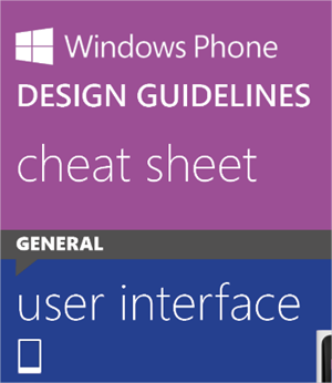 Cheat sheet para aprender a diseñar en Windows Phone 8
