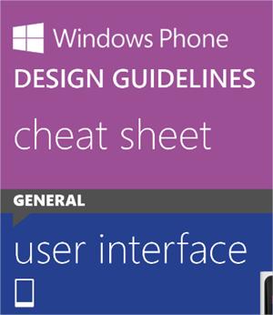 Cheat sheet para aprender a diseñar en Windows Phone 8
