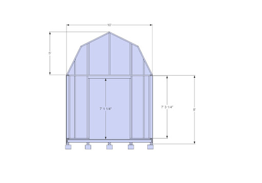 Elevated 10x10 Shed Plans 60093 Scomessinvole
