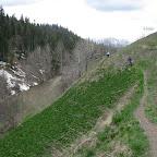 Спустившись с перевала, долгожданная дорога оказалась козьей тропой многими часами ведущей нас по крутым склонам ущелья реки Пхия.