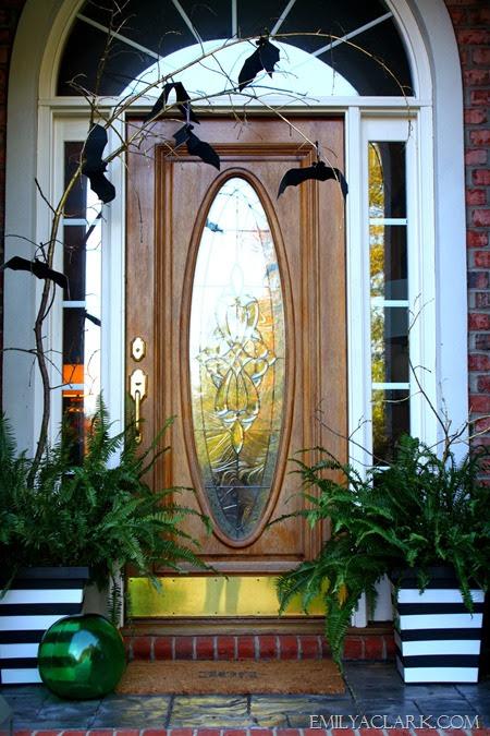 Halloween front door