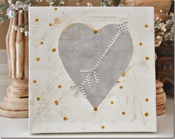 Valentine Canvas Bling Arrow