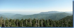 0319 Tennessee-North Carolina border - Smoky Mountain National Park - Clingmans Dome Rd - Observation Tower on top Clingmans Dome - Northern view Stitch