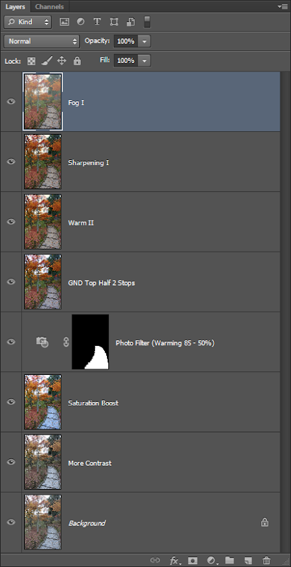 Photoshop Layers for Topaz Lens Effect Edit