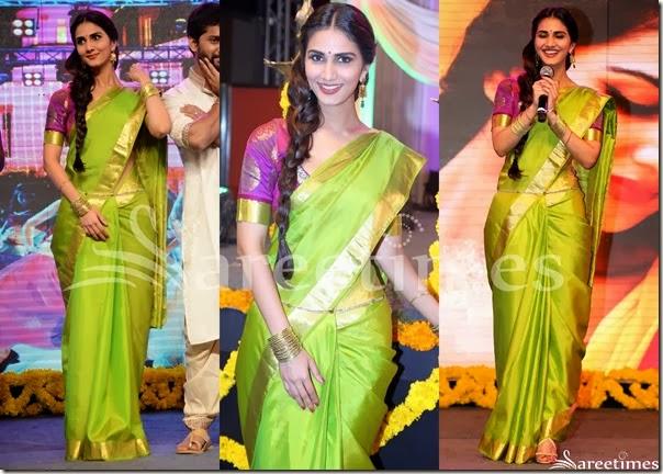 Vaani_Kapoor_Green_Bridal_Silk_Saree