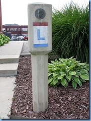 4278 Indiana - South Bend, IN - Lincoln Highway (Washington St) - concrete marker in front of Remedy Building  - LHA National Office