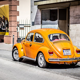 Yellow Beetle by Laurent Adien - Transportation Automobiles