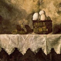 Manuel López Villaseñor (1979(: Cesta con huevos (Realismo academicista)