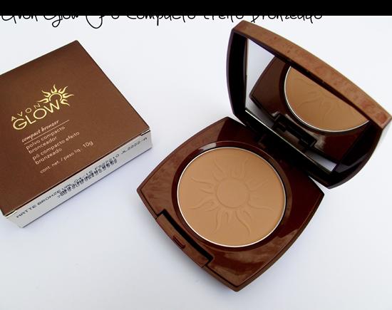 Avon Glow Po Compacto Efeito Bronzeado - embalagem