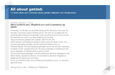 Ritornano GetDeb e PlayDeb