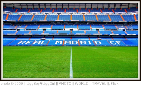 'The Santiago Bernabeu Stadium in Madrid - Spain - Home of Real Madrid - The best club in the world! 2009 - Enjoy the delights incl. behind the scenes look! WOW!' photo (c) 2009,