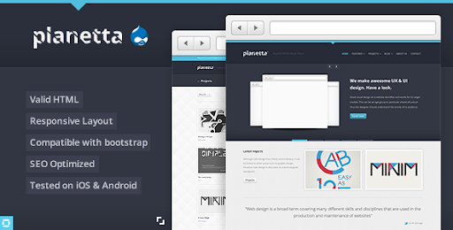 Top Drupal Themes And Templates Mistix Minimal Creative Drupal Theme