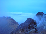 Just before sunrise on the outer rim of Sibayak (Daniel Quinn, August 2011)
