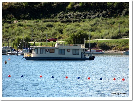 House boat on lake Wanaka.