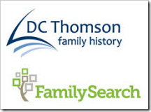 DC Thomson Family History and FamilySearch logos