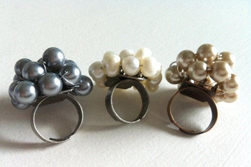 Pearl Cluster Rings Always in Wonder