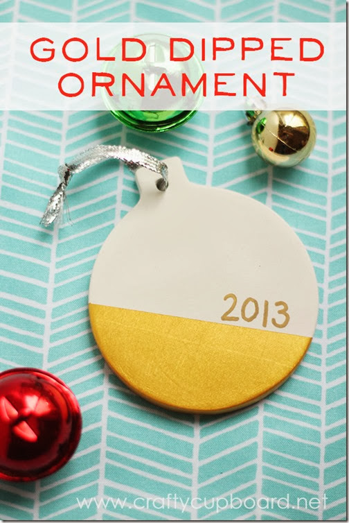 Gold Dipped Ornament Tutorial by the Crafty Cupboard