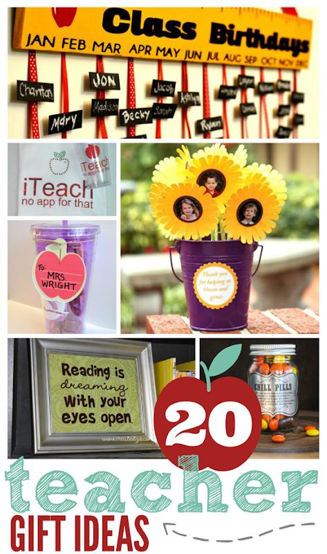 20 Teacher Gift Ideas at GingerSnapCrafts.com #silhouettechallenge #thesilhouettechallenge #silhouetteCAMEO #silhouetteportrait