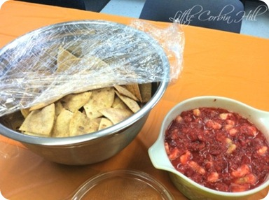 baked tortillas fruit salsa