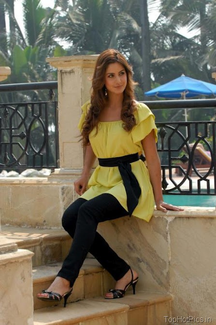 Katrina Kaif Sweet Photos in Short Yellow Dress 4