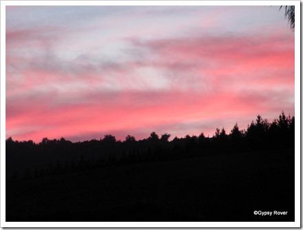 Southland sunset over Invercargill.