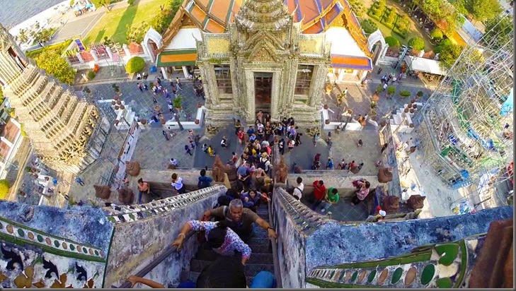 climbing buddhist temple thailand bangkok
