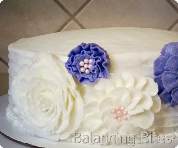 Buttercream Flower Birthday Cake - Balancing Bites