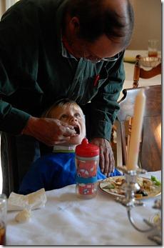 grandpa feeding t