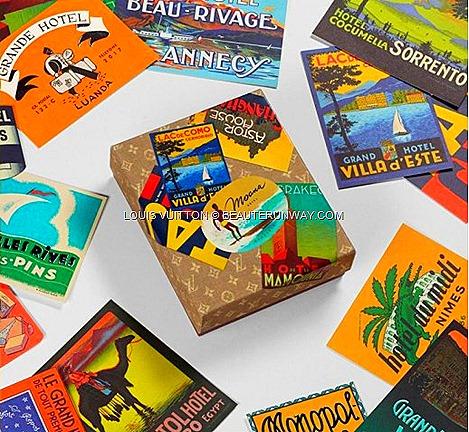 Louis Vuitton Hotel Labels Postcard Box Island Masion Singapore Gaston Louis Vuitton.
